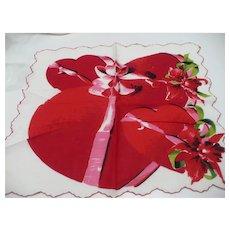 Big Hearts Valentine Handkerchief