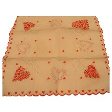 Valentine Handkerchief Tiny Hearts