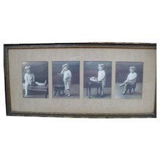 Matted  Framed Photo Child