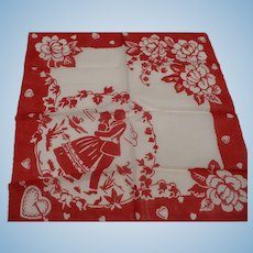 Loving Couple Valentine Handkerchief