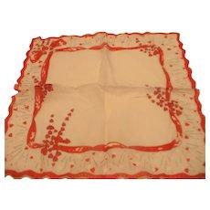 Hearts & Bows Valentine Handkerchief