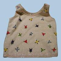 Sleeveless Beaded Floral Sweater