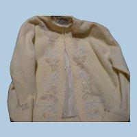 Lambswool Beaded Cardigan Sweater