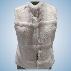 Saks Fifth Ave Fur Sweater Vest