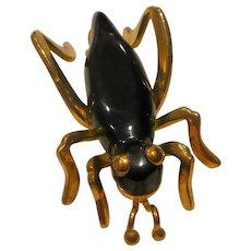 Bakelite Grasshopper Pin