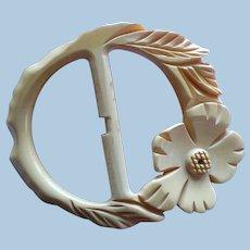 Floral Bakelite Buckle