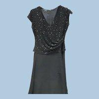 Long Black Beaded Dress by Jkara