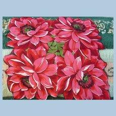 Big Pink Flowers Handkerchief