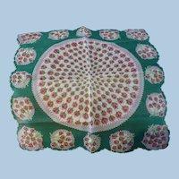 Rosebuds Handkerchief