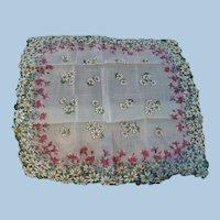 Spring Daisy Handkerchief