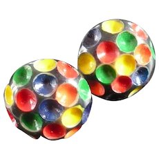 Bakelite Painted Dot earrings