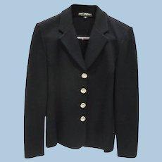 St. John Knit Black Blazer size 8