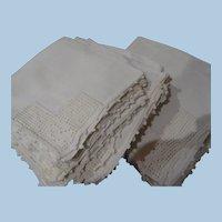 Linen Crochet Napkins- 18