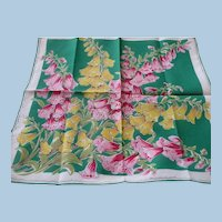 Foxglove Cotton Handkerchief