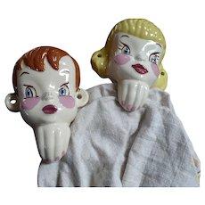 Ceramic  Boy & Girl Towel Holders