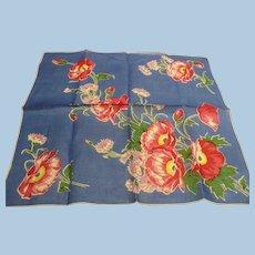Pink & Blue Floral Handkerchief