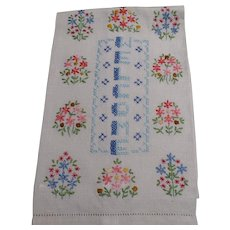 Welcome Embroidered Guest Towel