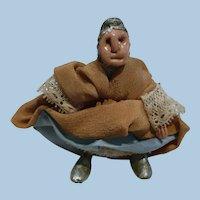 Early Lady Wishbone Doll Folk Art