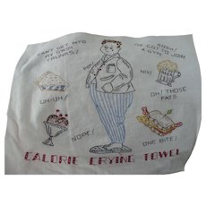 Hand Embroidered Calorie Towel