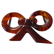 Bakelite Bow Belt Buckle