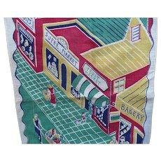 1950's Print Shopping Towel
