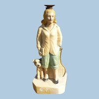 Chalkware Girl Lamp