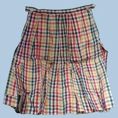 1960's Check Cotton Culottes