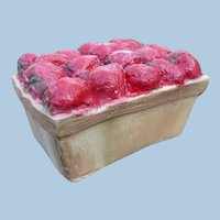 Plaster Carton of Strawberries