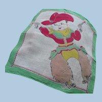 1950s Child's Cowboy Handkerchief