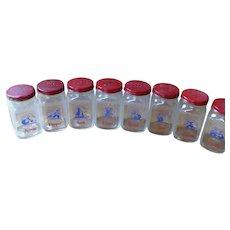 Anchor Hocking 10 Jar Spice Bottles