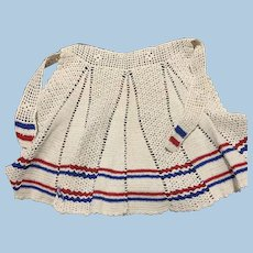Patriotic Crochet Apron