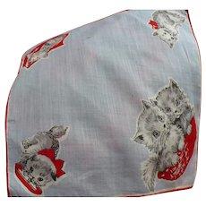 Two Kittties Child's Handkerchief