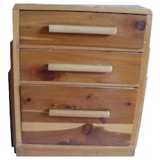Small Cedar Wood Dresser Jewelry Box
