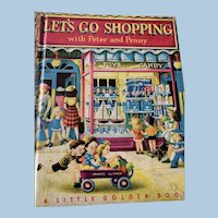 Let's Go Shopping  first edition golden book