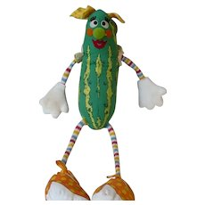 1983  Stuffed Pickle Toy