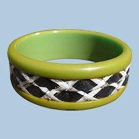 Bakelite Woven Insert Bracelet