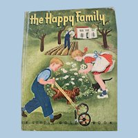 1947 Golden Book The Happy Family