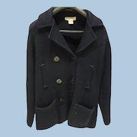 Navy Pea Jacket Style  Sweater