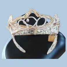 Bridal Lace Pearl Headpiece