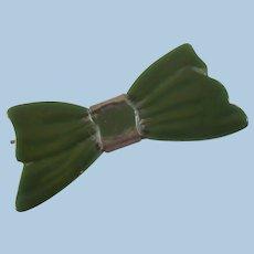 Green Bakelite Barrette