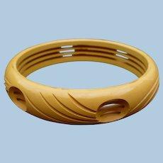 Cream Bakelite Cutout Bracelet