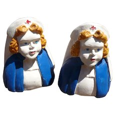 Chalkware Nurse Salt & Pepper