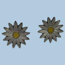 Enamel Daisy Earrings