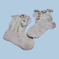 Victorian Crochet Doll or Baby Booties