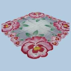 Cotton Pansy Handkerchief