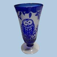 Cobalt Glass Small Vase