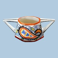Czech Pottery Double Handle Container