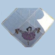 Little Girl Dancing Handkerchief