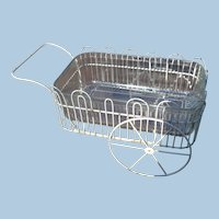 Wire and Glass Serving Cart