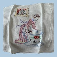 Father Embroidered towel